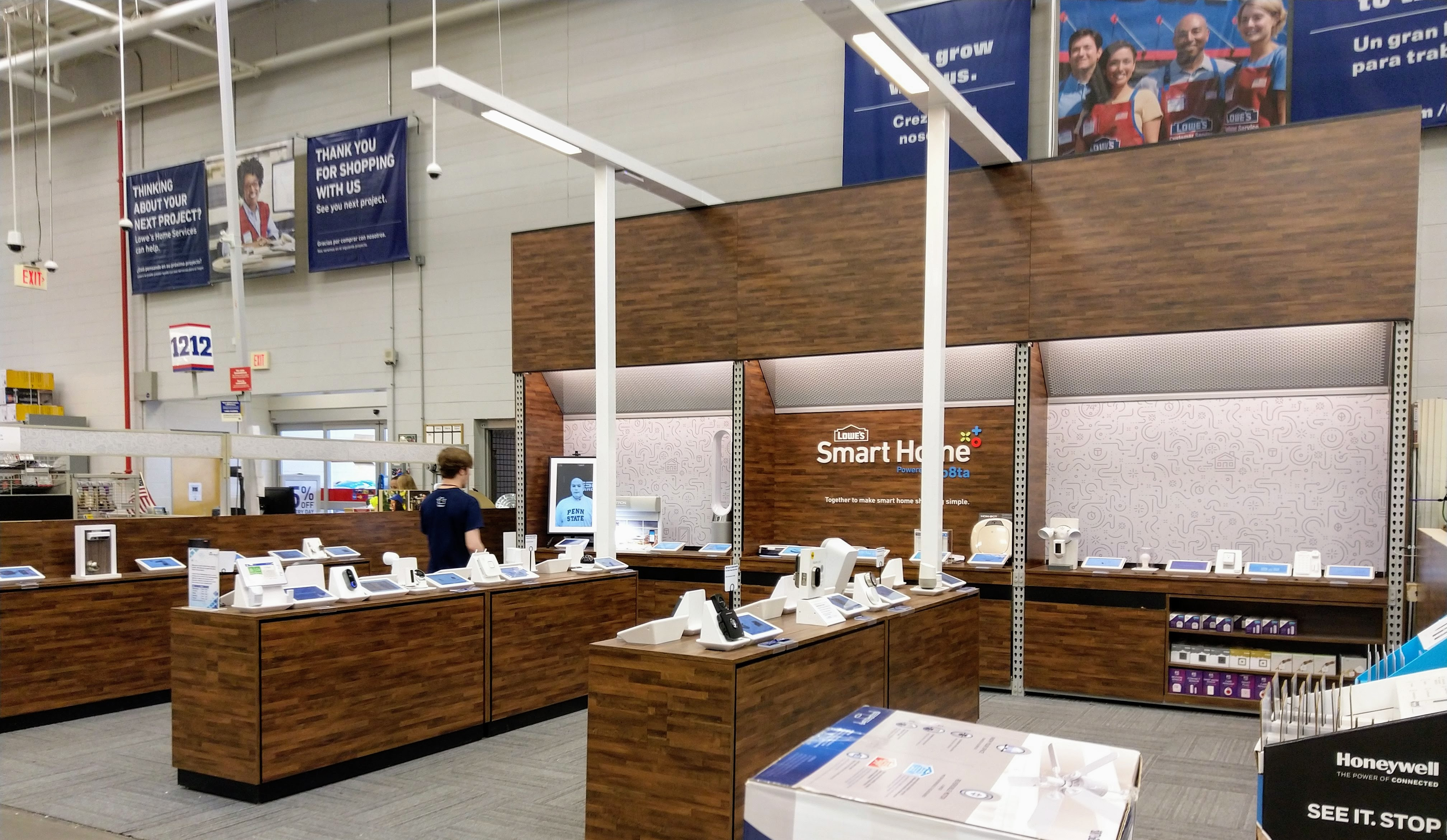 lowe s has a smart home store within the store stacey on iot internet of things news and. Black Bedroom Furniture Sets. Home Design Ideas