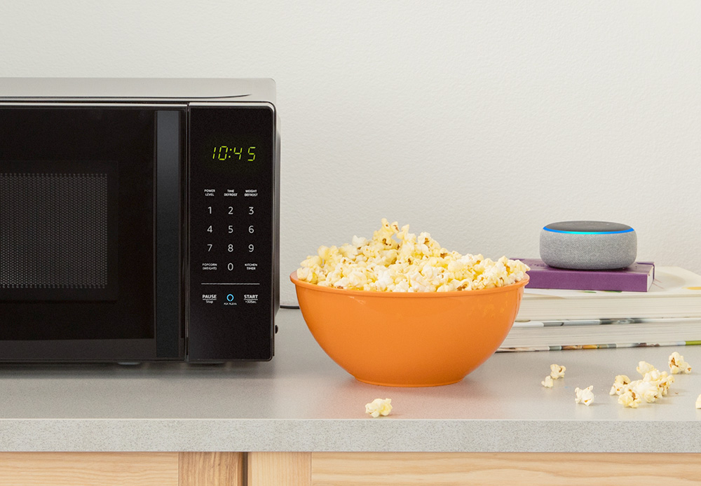 - AmazonBasics Microwave Popcorn - Suprisingly, it's Amazon, not Google, bringing more context to the smart home – Stacey on IoT