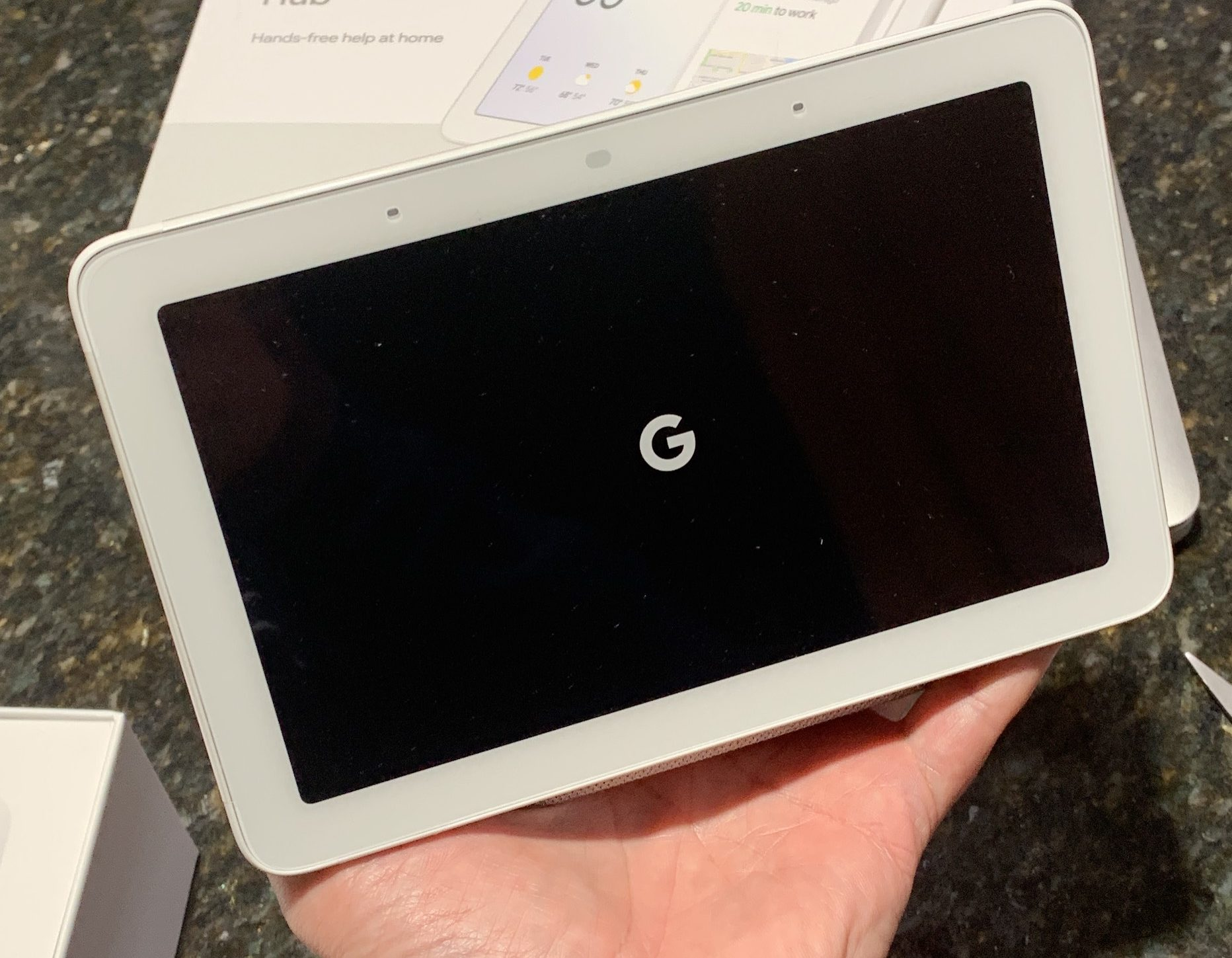 - google home hub in hand e1545259984530 - I was wrong about the Google Home Hub: It's ideal in certain rooms – Stacey on IoT